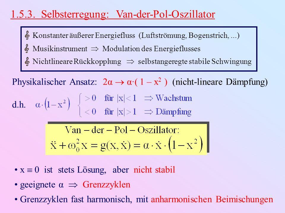 1.5.3. Selbsterregung: Van-der-Pol-Oszillator