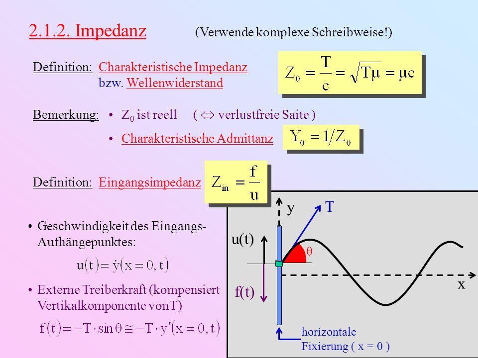 2.1.2. Impedanz (Verwende komplexe Schreibweise!)