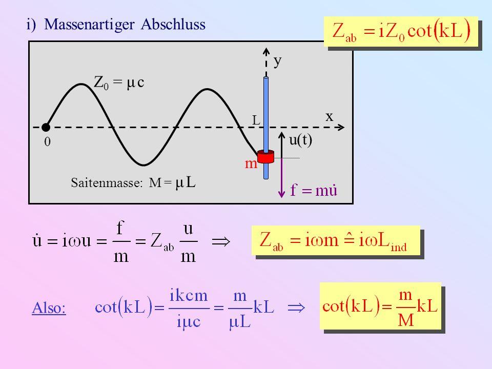 i) Massenartiger Abschluss