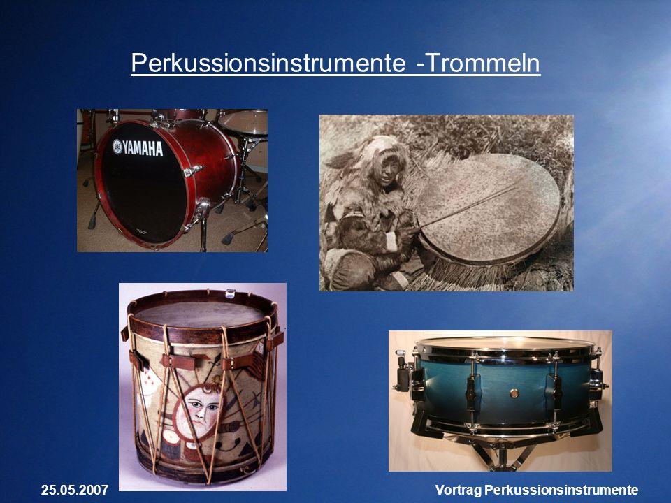 Perkussionsinstrumente -Trommeln