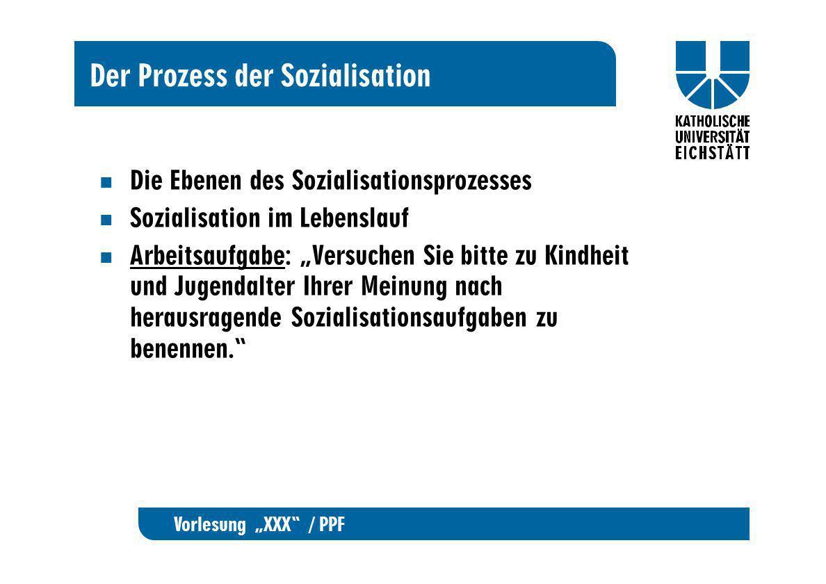 Der Prozess der Sozialisation