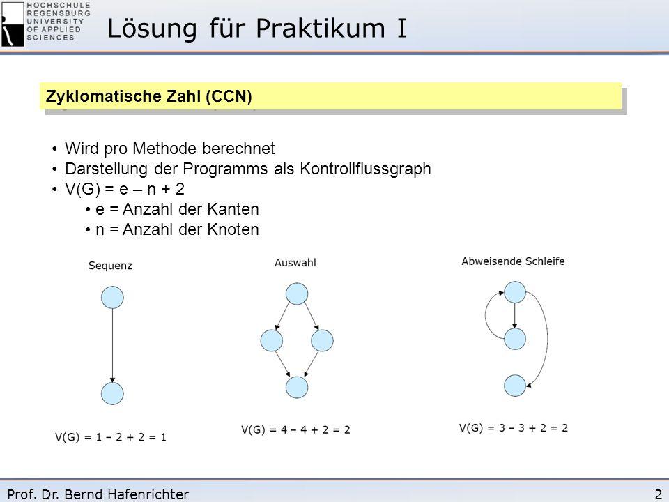 Lösung für Praktikum I Zyklomatische Zahl (CCN)