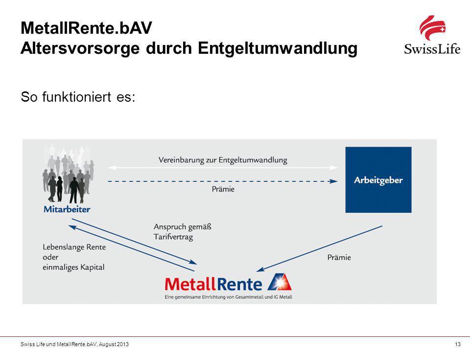 MetallRente.bAV Altersvorsorge durch Entgeltumwandlung
