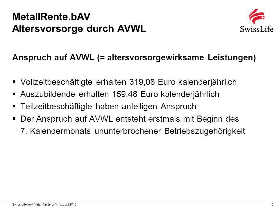 MetallRente.bAV Altersvorsorge durch AVWL