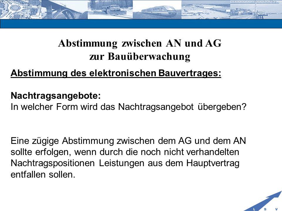Abstimmung zwischen AN und AG