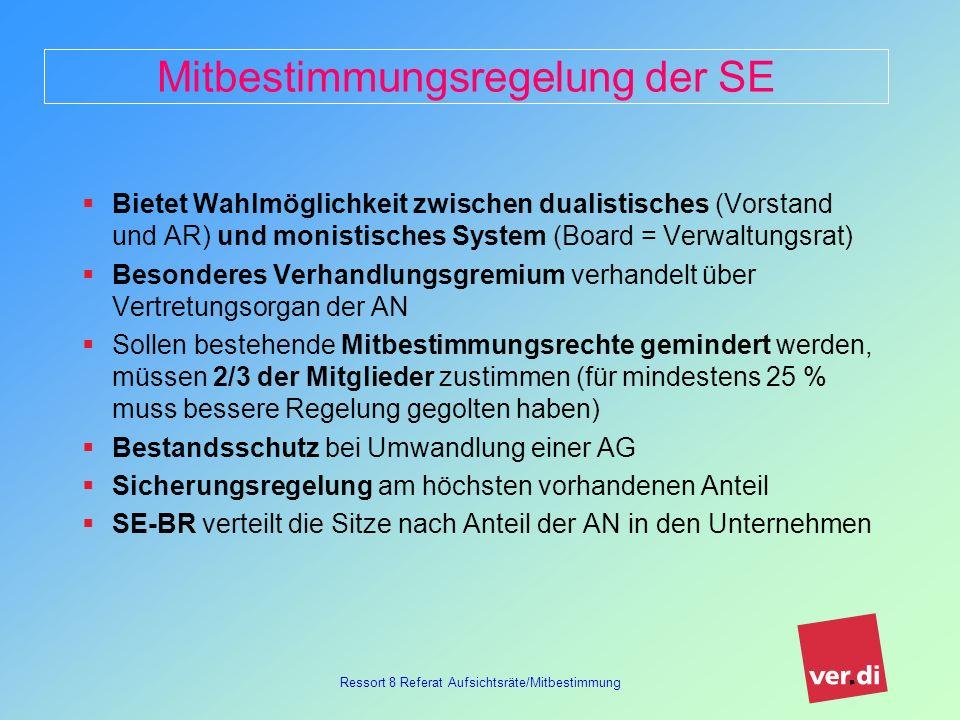 Mitbestimmungsregelung der SE