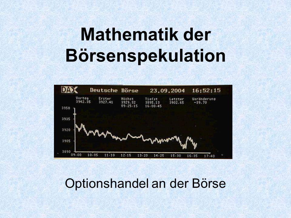 Mathematik der Börsenspekulation