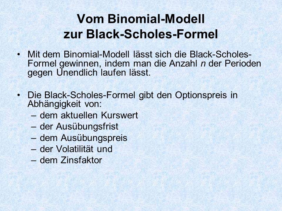 Vom Binomial-Modell zur Black-Scholes-Formel
