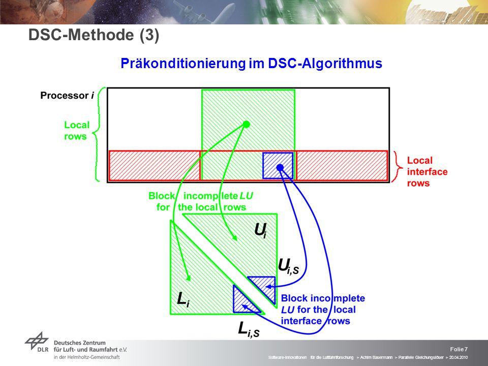 Präkonditionierung im DSC-Algorithmus
