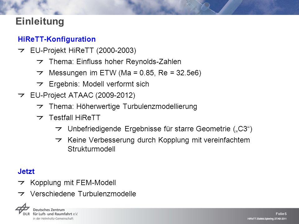 Einleitung HiReTT-Konfiguration EU-Projekt HiReTT (2000-2003)