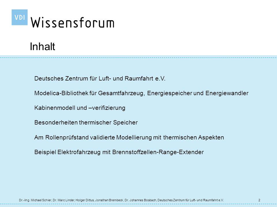 Inhalt Deutsches Zentrum für Luft- und Raumfahrt e.V.