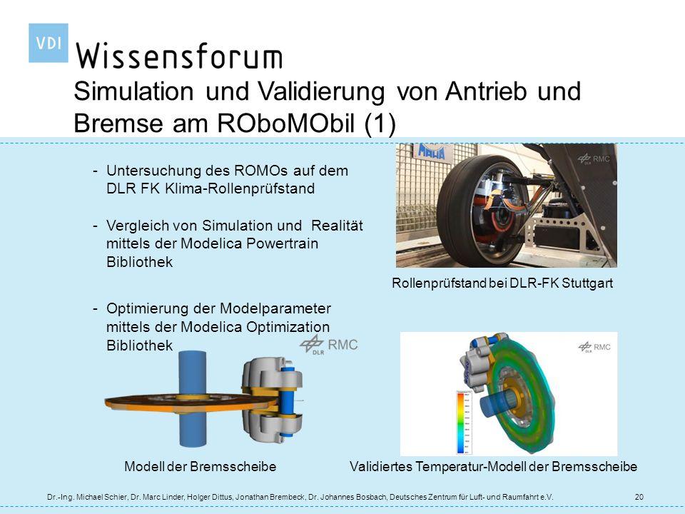 Simulation und Validierung von Antrieb und Bremse am ROboMObil (1)