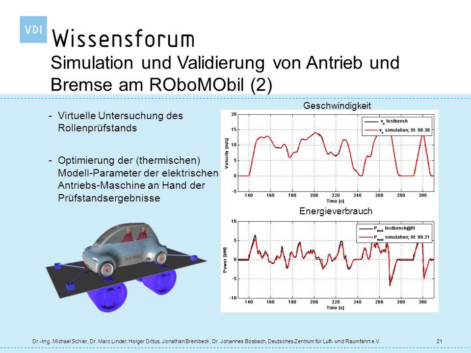 Simulation und Validierung von Antrieb und Bremse am ROboMObil (2)