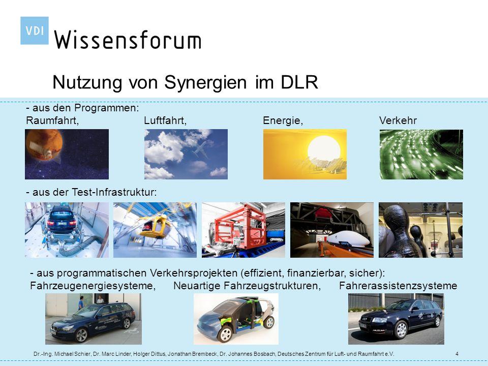 Nutzung von Synergien im DLR