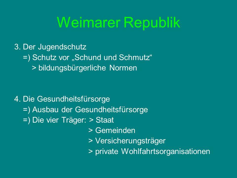 Weimarer Republik 3. Der Jugendschutz