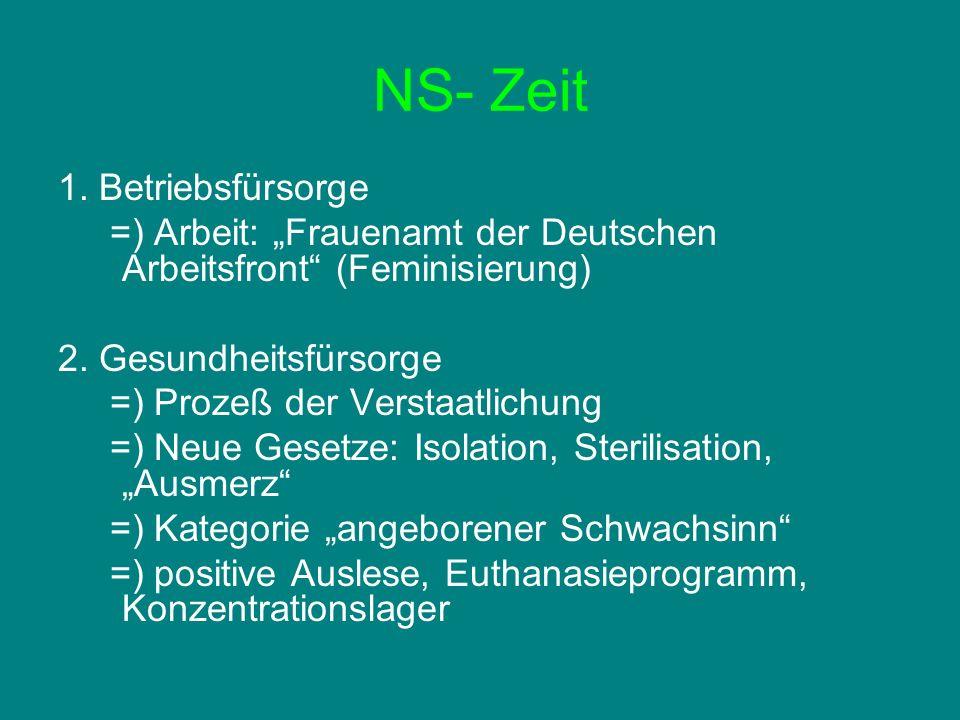 NS- Zeit 1. Betriebsfürsorge
