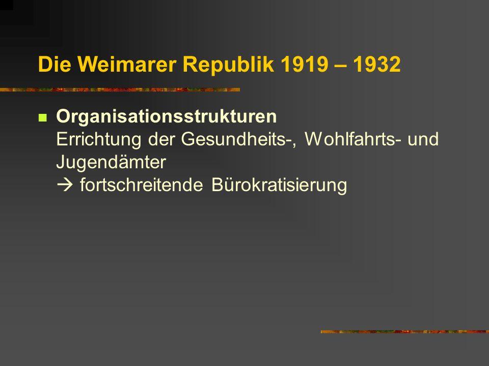 Die Weimarer Republik 1919 – 1932
