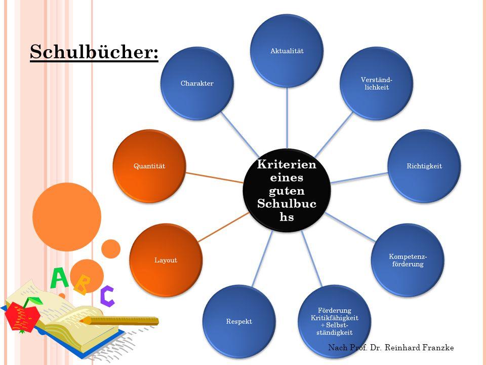 Schulbücher: Nach Prof. Dr. Reinhard Franzke