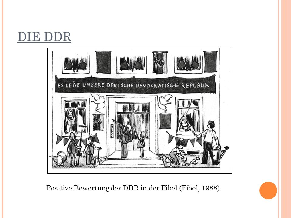 DIE DDR Positive Bewertung der DDR in der Fibel (Fibel, 1988)