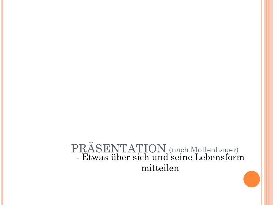 PRÄSENTATION (nach Mollenhauer)