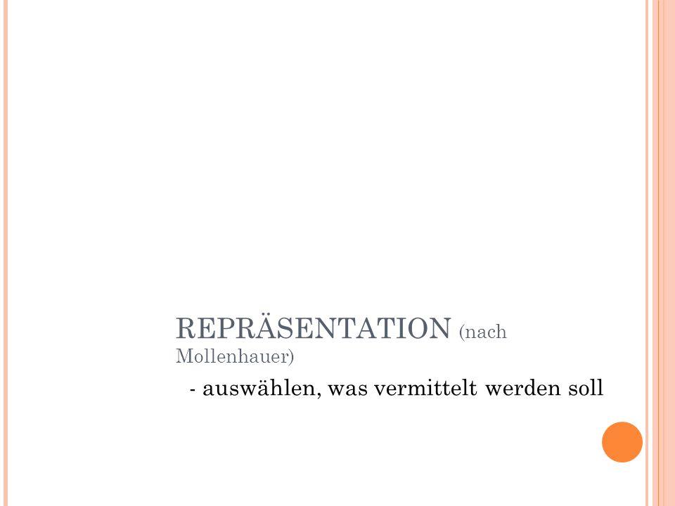 REPRÄSENTATION (nach Mollenhauer)