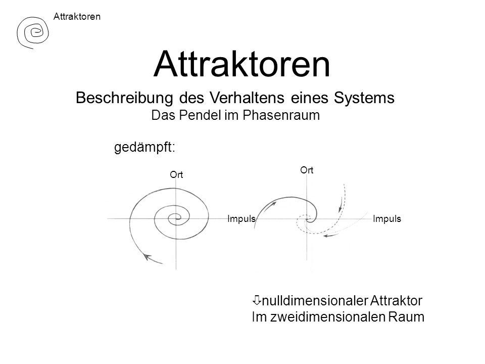 Attraktoren Beschreibung des Verhaltens eines Systems