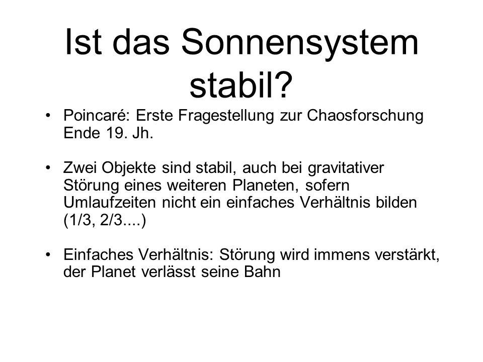 Ist das Sonnensystem stabil