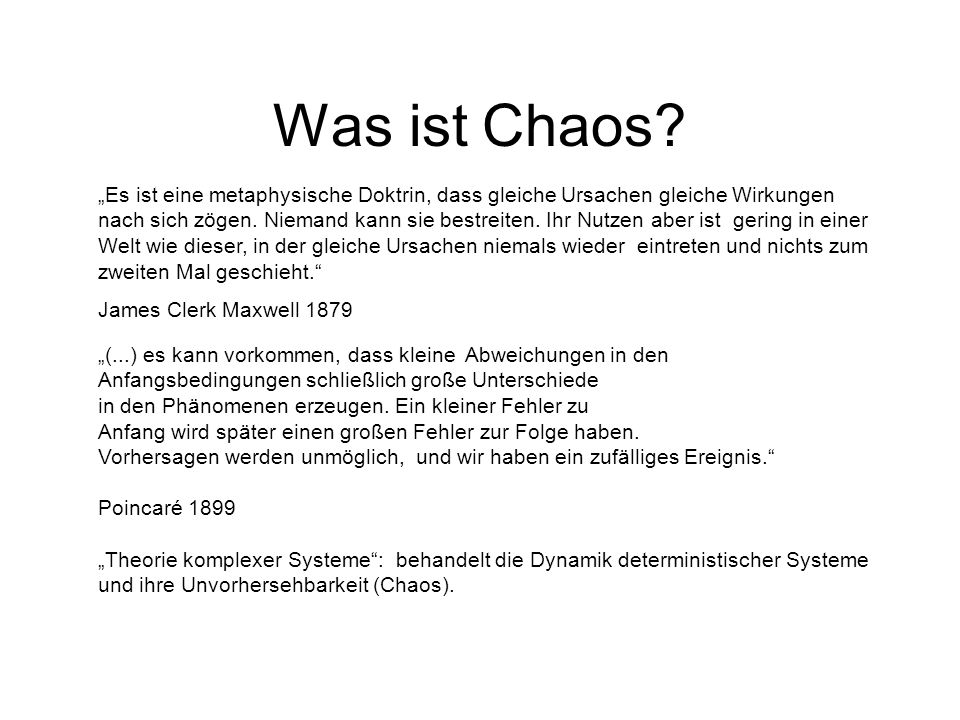 Was ist Chaos