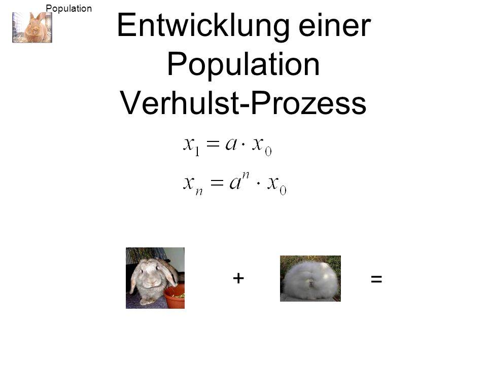 Entwicklung einer Population Verhulst-Prozess
