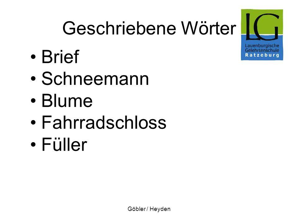 Geschriebene Wörter Brief Schneemann Blume Fahrradschloss Füller