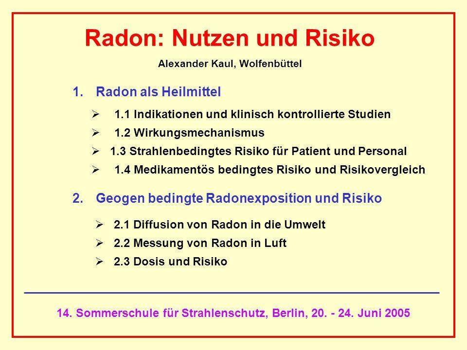 Radon: Nutzen und Risiko