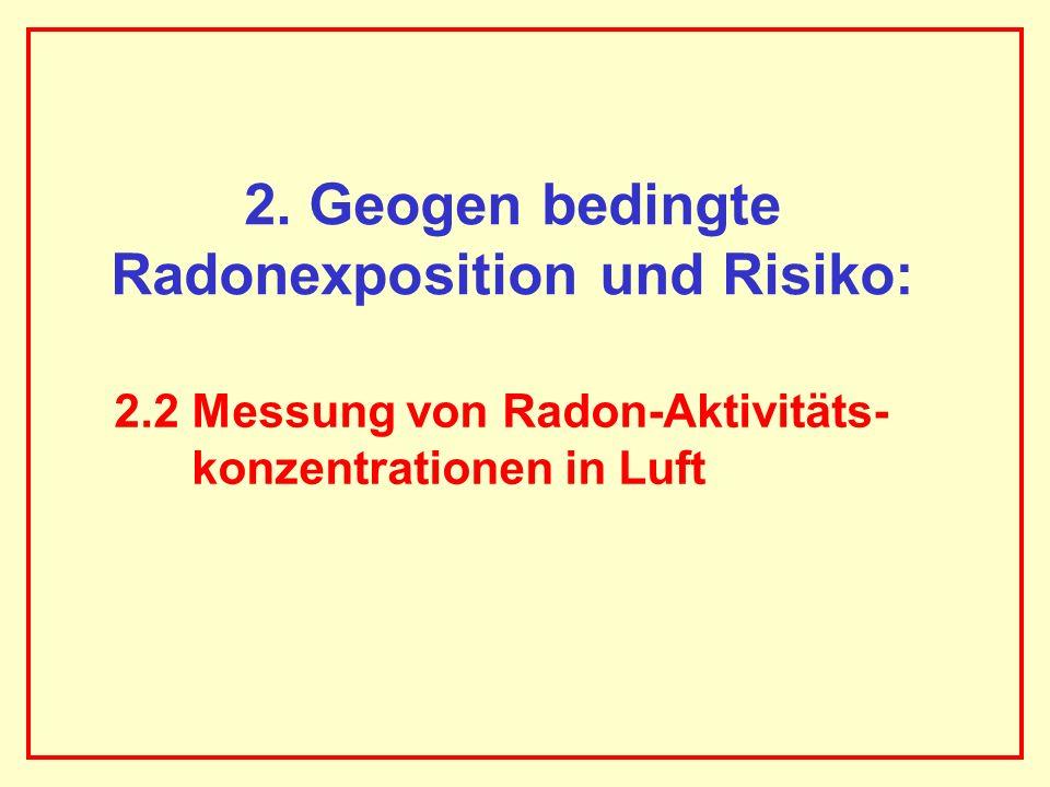 2. Geogen bedingte Radonexposition und Risiko:
