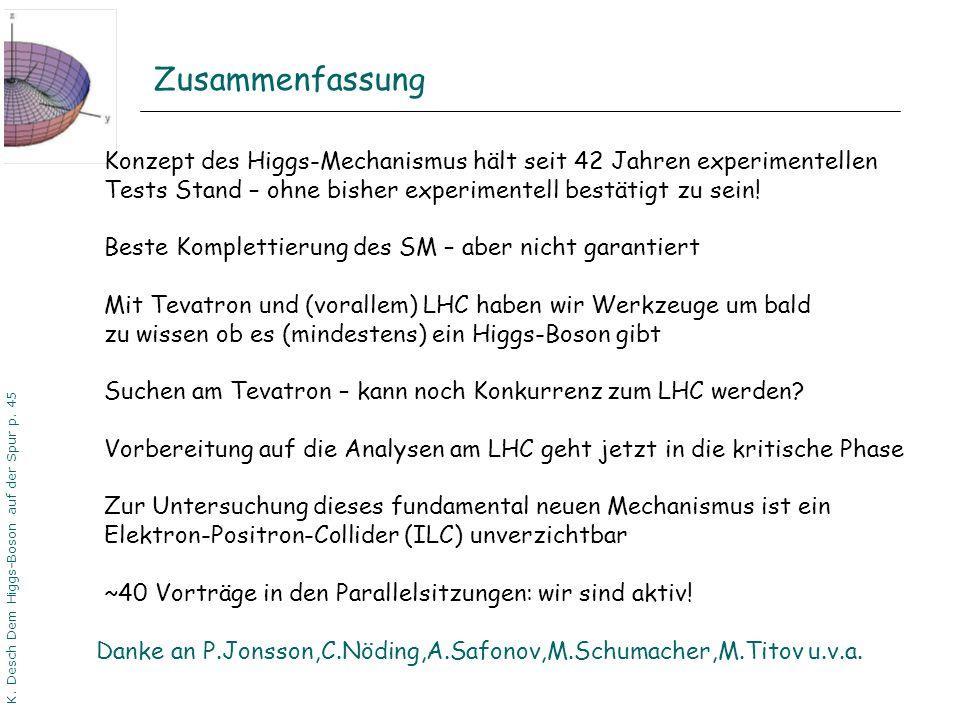 K. Desch Dem Higgs-Boson auf der Spur p. 45