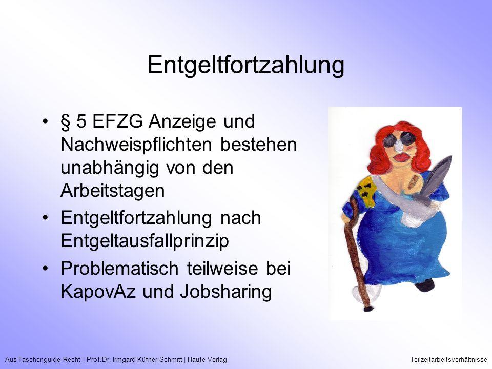 Entgeltfortzahlung § 5 EFZG Anzeige und Nachweispflichten bestehen unabhängig von den Arbeitstagen.