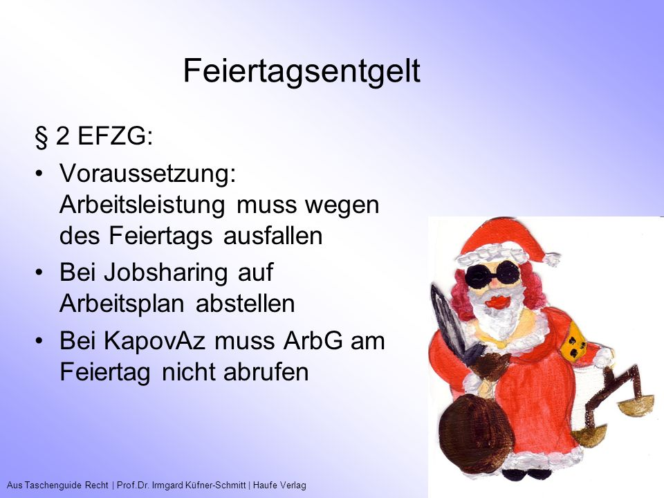 Feiertagsentgelt § 2 EFZG: