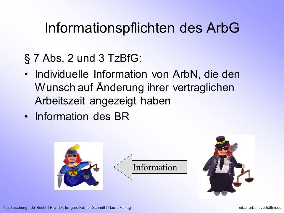 Informationspflichten des ArbG