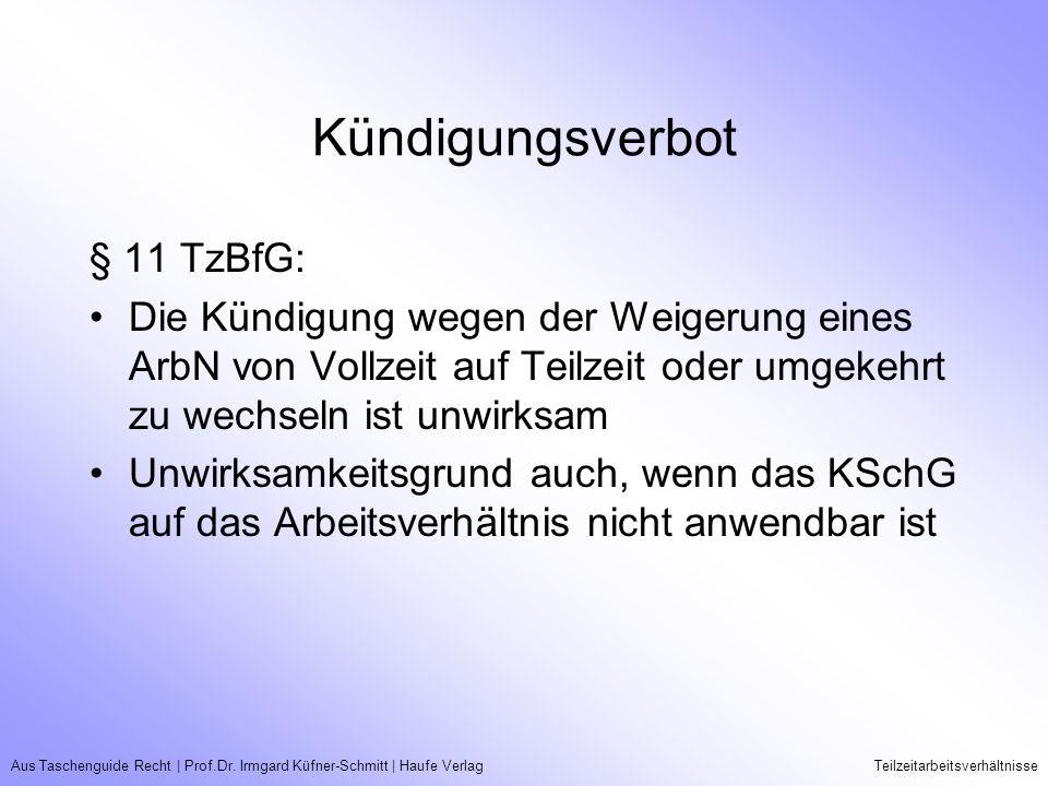 Kündigungsverbot § 11 TzBfG: