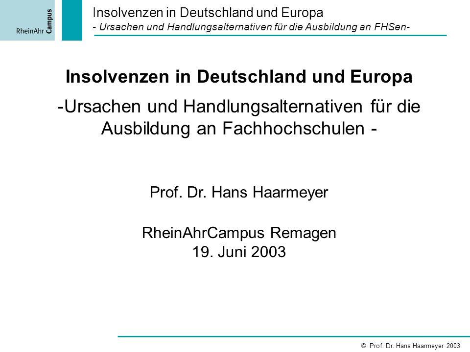 Insolvenzen in Deutschland und Europa