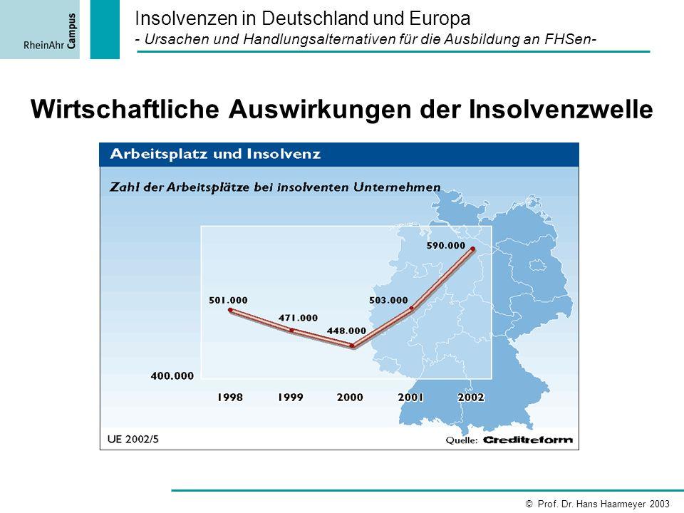 Wirtschaftliche Auswirkungen der Insolvenzwelle
