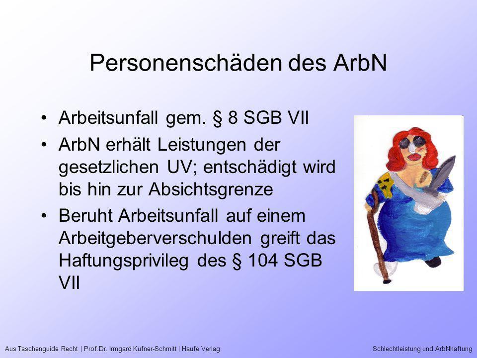 Personenschäden des ArbN