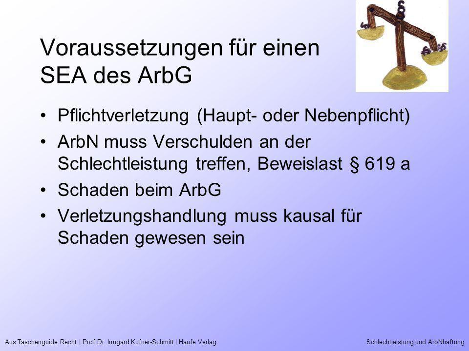 Voraussetzungen für einen SEA des ArbG