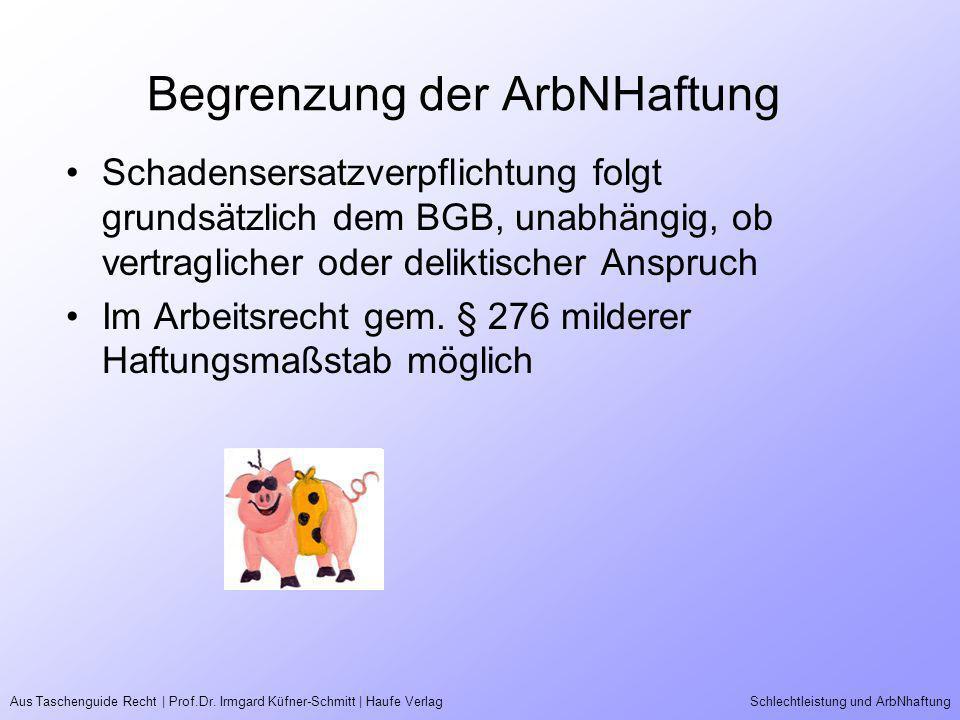 Begrenzung der ArbNHaftung