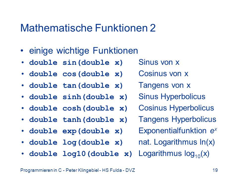 Mathematische Funktionen 2