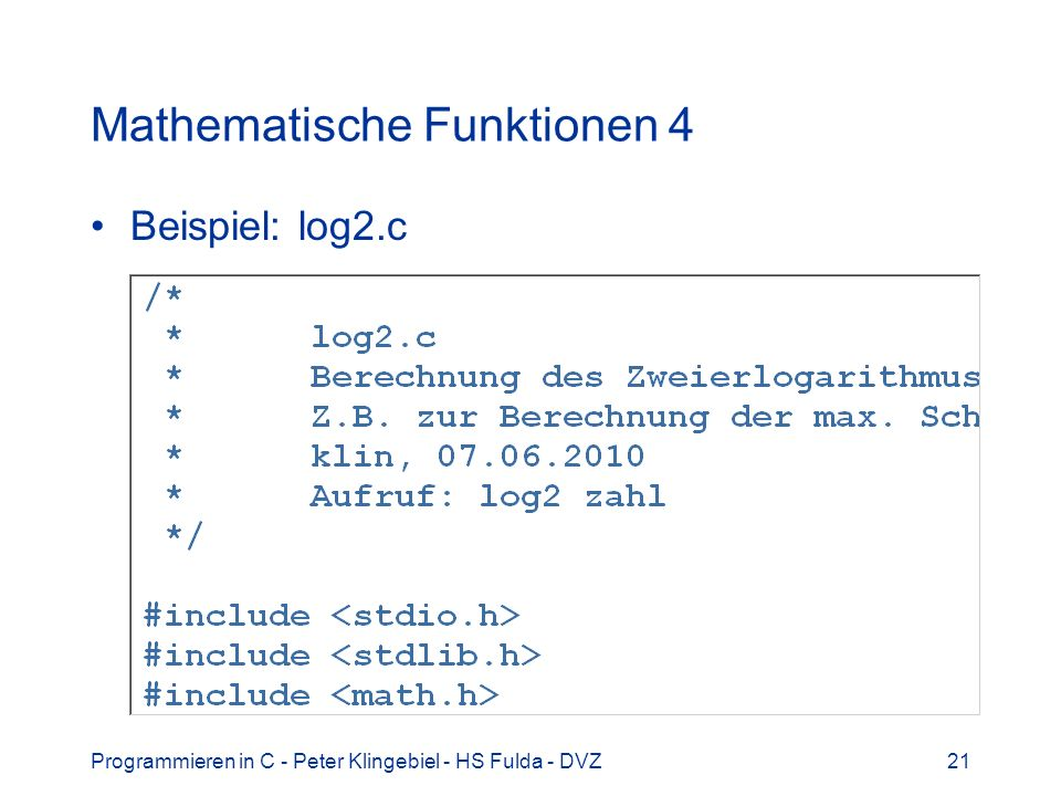 Mathematische Funktionen 4