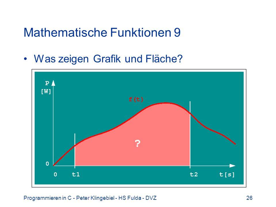 Mathematische Funktionen 9