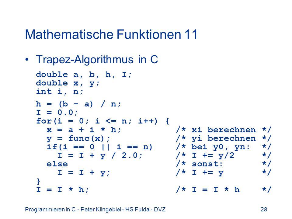 Mathematische Funktionen 11
