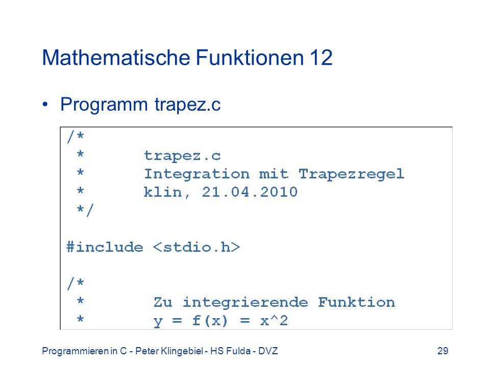 Mathematische Funktionen 12