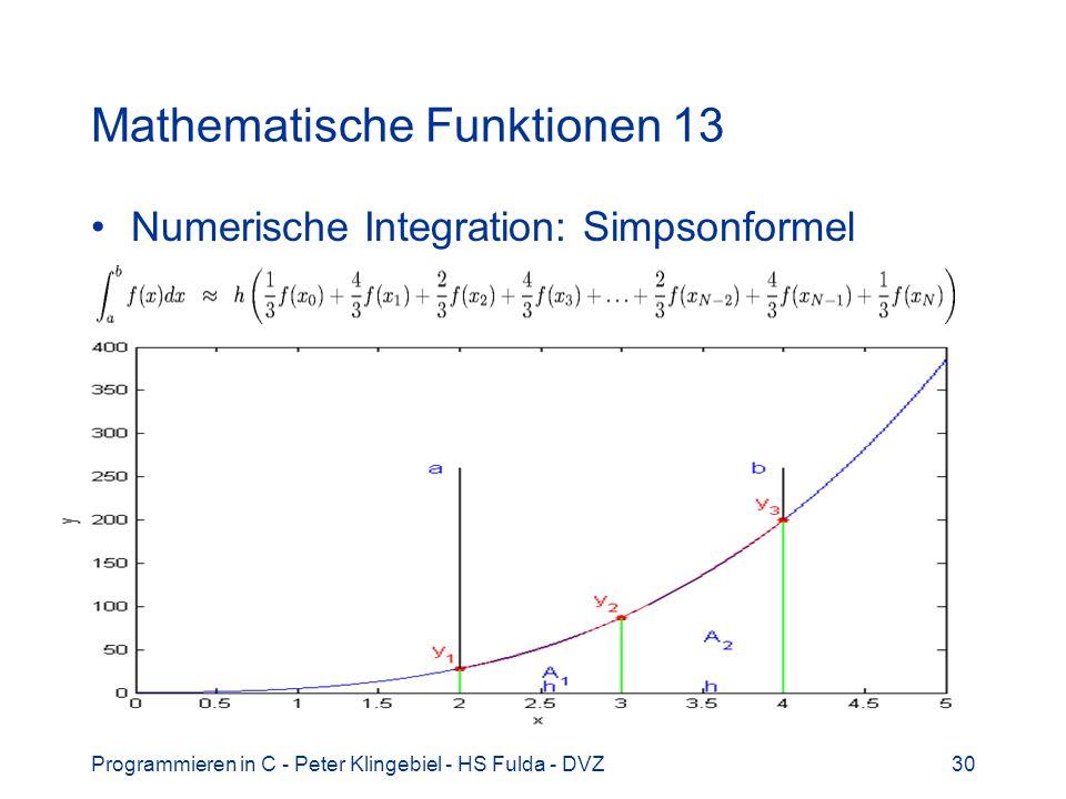 Mathematische Funktionen 13