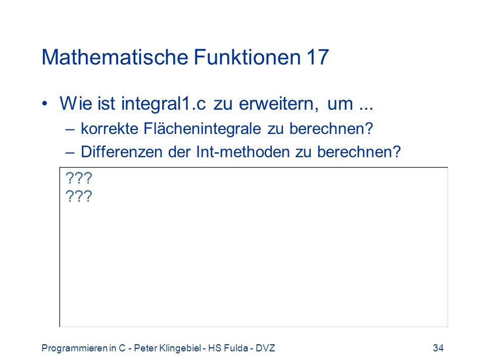 Mathematische Funktionen 17