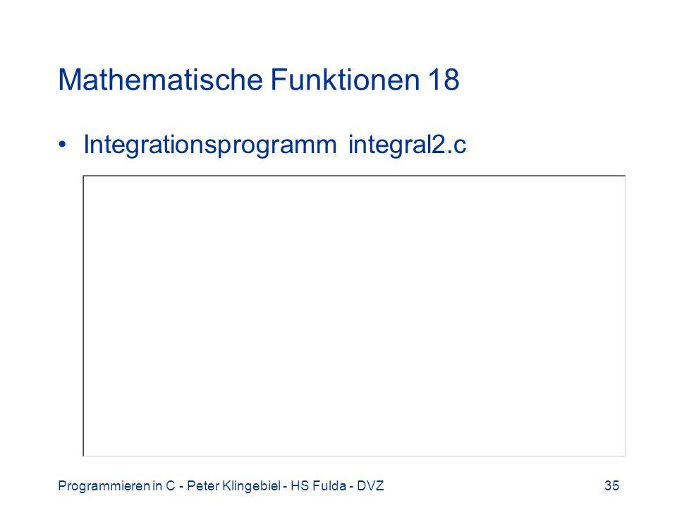 Mathematische Funktionen 18
